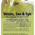 Voices, Sax & Syn – March 12, 2011