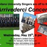Capilano University Singers' Arrivederci Concert!