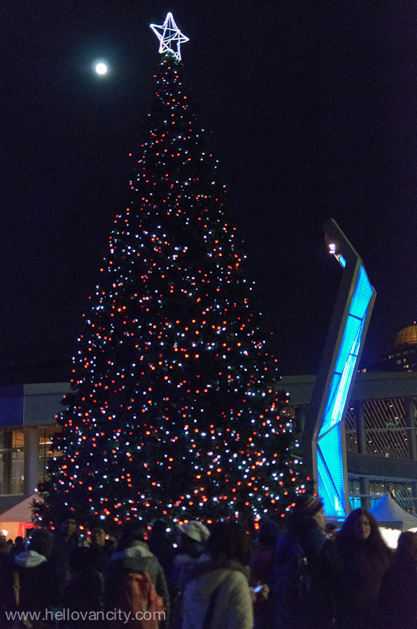Rick Hansen Lights The Vancouver 50 Foot Christmas Tree At The Jack Poole  Plaza At