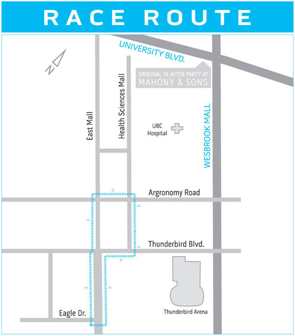 2012 UBC Grand Prix Race Route