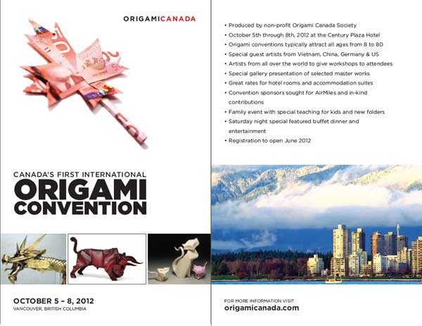2012 Vancouver Origami Canada Convention at Century Plaza on October 5 - 8, 2012