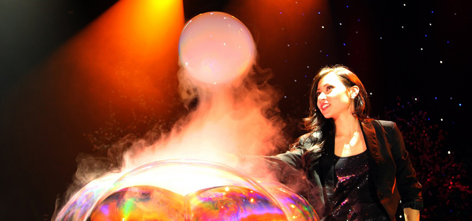 Fan Yang's Gazillion Bubble Show Guinness World Record Attempt at Science World on September 19, 2012