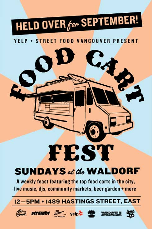 Vancouver Food Cart Fest has been extended to the end of September 2012