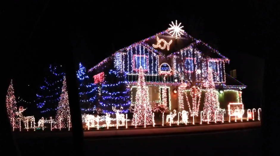 Epic Christmas Light Show Synced to Dubstep