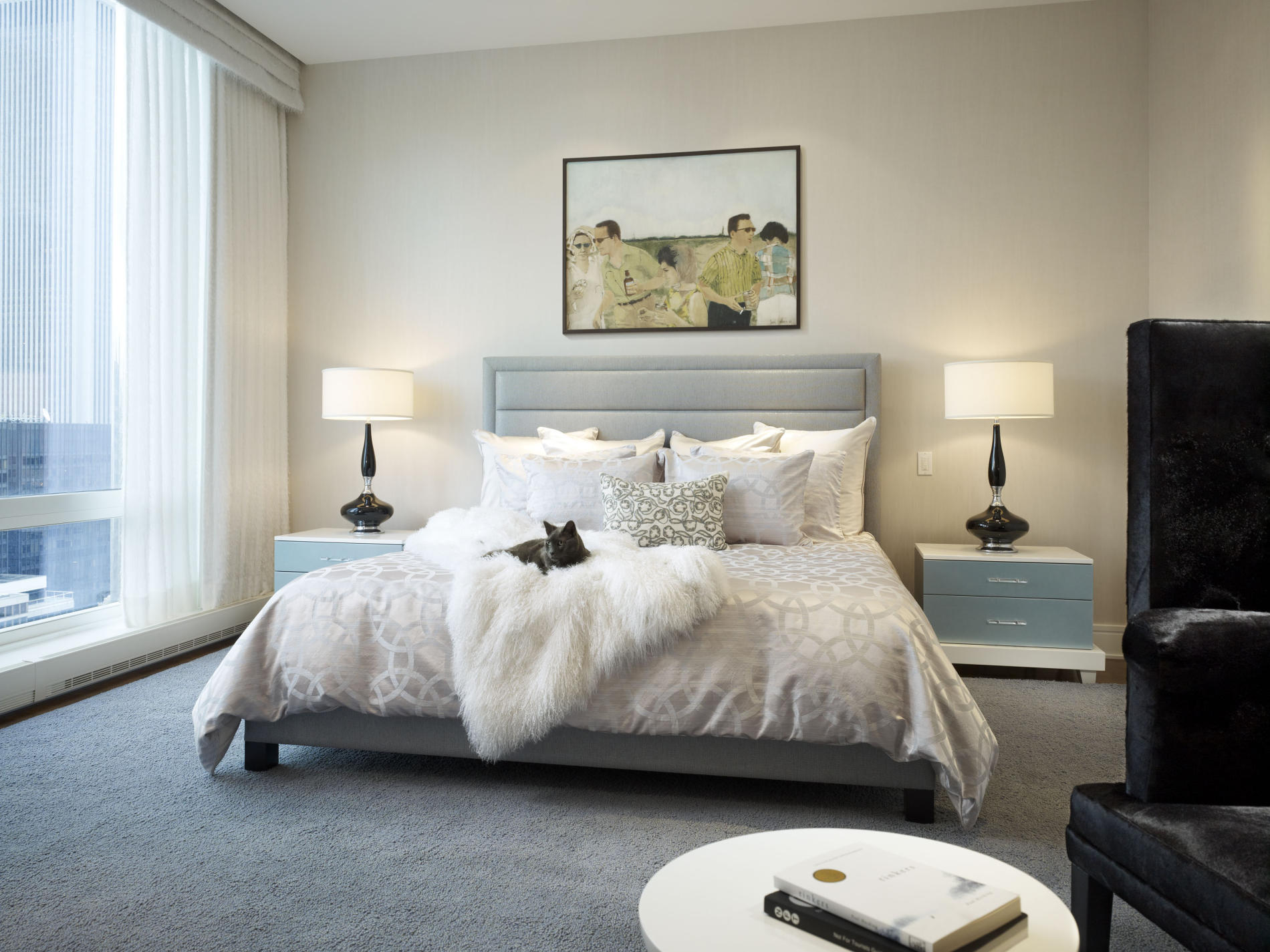 Exciting Red White Beige Bedroom