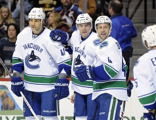 Vancouver Canucks beat Colorado Avalanche 3-2 to take division lead
