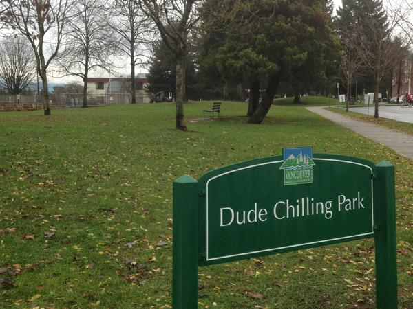 "Vancouver park board wants to find a permanent home for the ""Dude Chilling Park"""