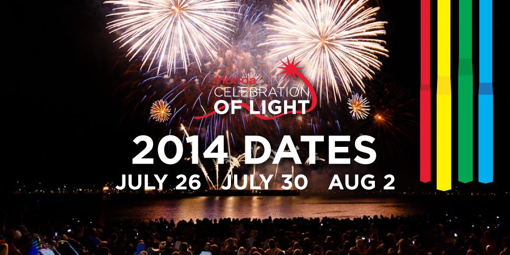 Celebration of Light 2014 Dates