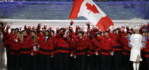 Team Canada at Sochi Olympics Opening Ceremony 1