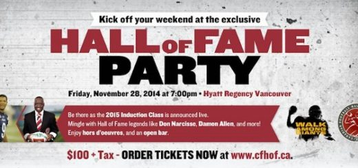 Grey Cup Hall of Fame Party & StubHub's Tailgate Party - November 28 - December 1, 2014