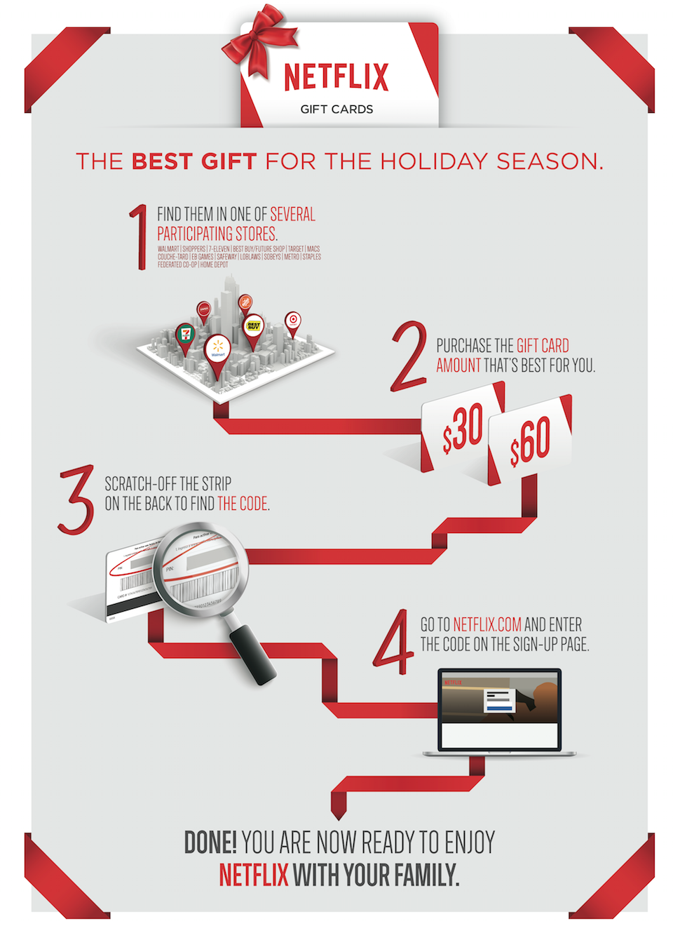 Contest! Netflix Retail Gift Cards for the Holiday season