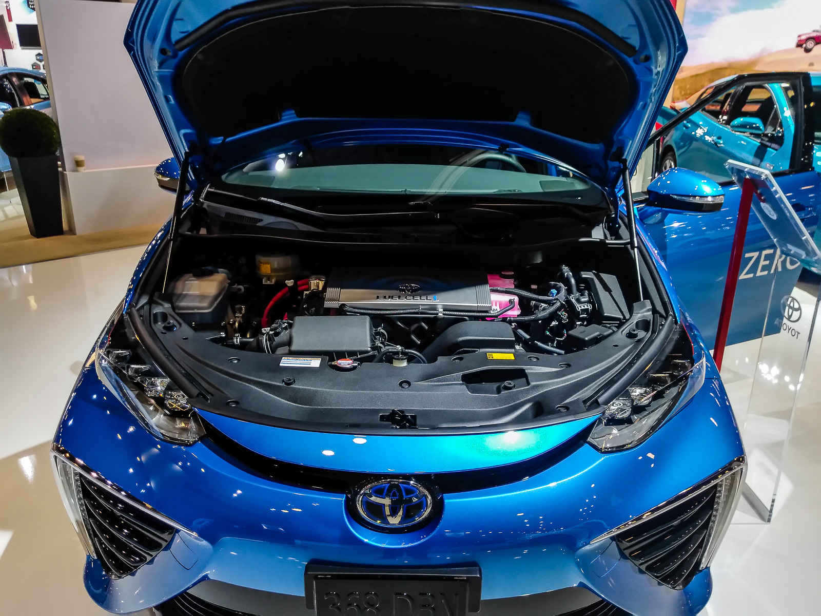 2018 toyota mirai. the miraiu0027s fuel cell stack combines hydrogen gas with oxygen to produce electricity that powers electric motor 2018 toyota mirai