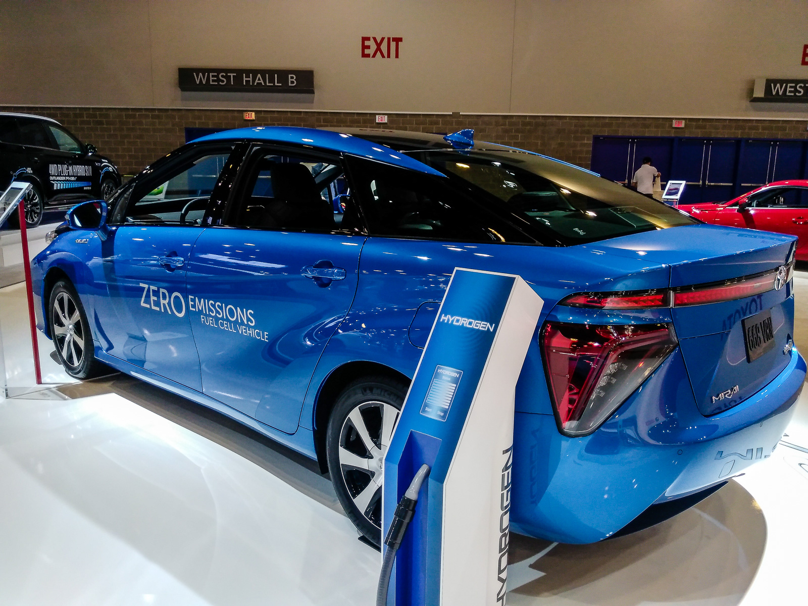 2018 toyota mirai. it takes five minutes to refuel and will have range of 483 kilometres 300 miles on a full tank 2018 toyota mirai n
