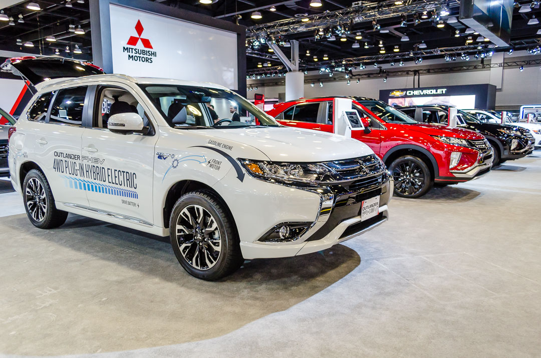 At The 2018 Vancouver Auto Show Mitsubishi Motors Canada Showpiece Is Brand New Outlander Phev World S Best Ing Plug In Hybrid Electric